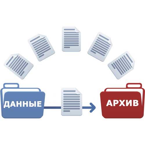 Сохранение данных пользователя в архив